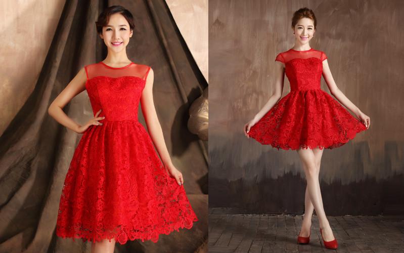 Плаття червоного кольору не потребують багатому декорі 3dbb41a2f544f