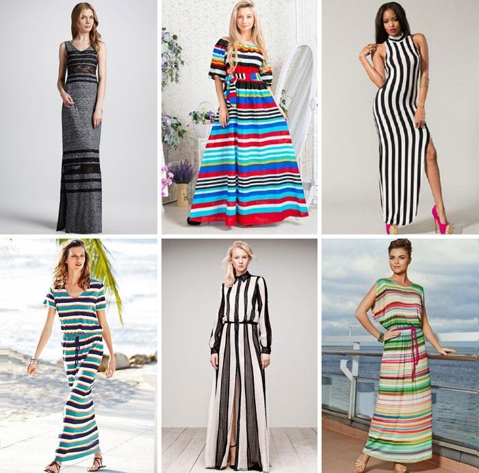 f4425357383970 Довге трикотажне плаття в смужку