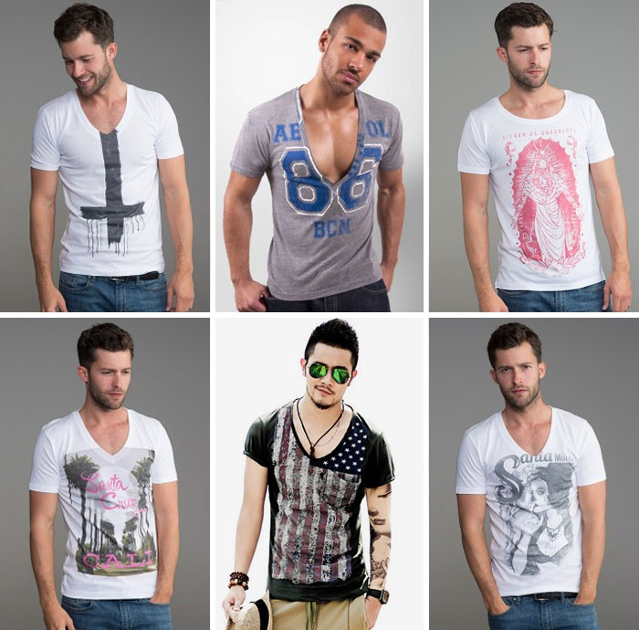 Чоловіча футболка з глибоким вирізом 9226268e96d16