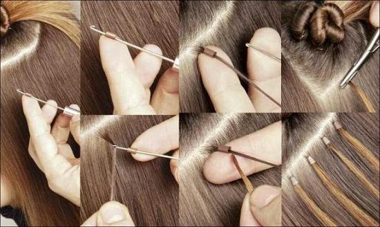 Южно-корейская технология наращивания волос RING STAR на кольца
