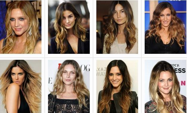 брондирование с эффектом Ombre Hair