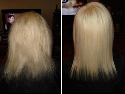 Каутеризация волос фото до и после