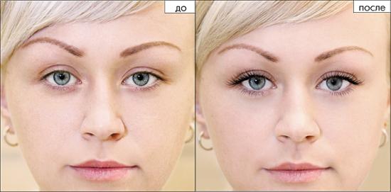 Наращивание ресниц: фото до и после