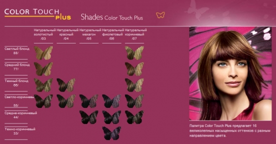 Палитра красок для волос Wella Color Touch