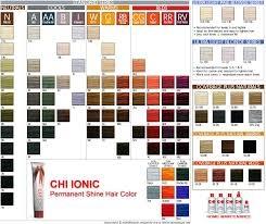 Палитра красок для волос CHI Ionic Permanent