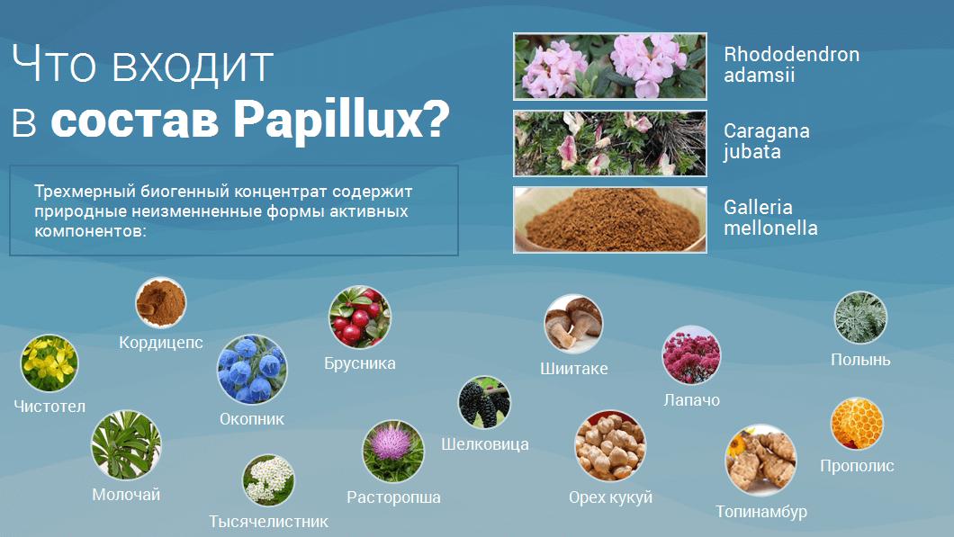 Papillux - засіб від папілом і бородавок. Принцип дії. Склад крапель. Інструкція по застосуванню. Переваги та протипоказання