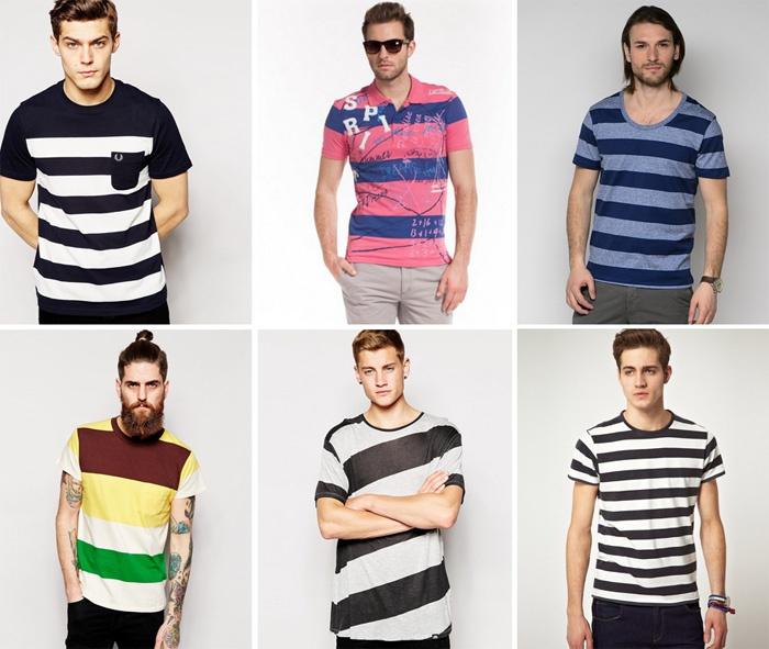Широкая полоска на футболке