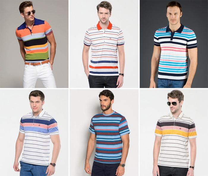 Разноцветная полоска на футболке