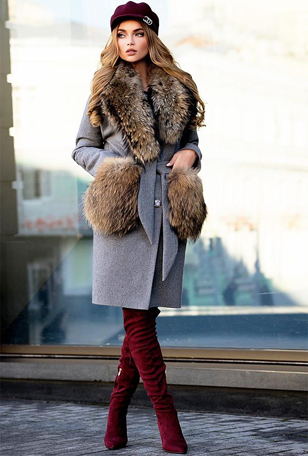 Photo of Пальто з хутряними кишенями