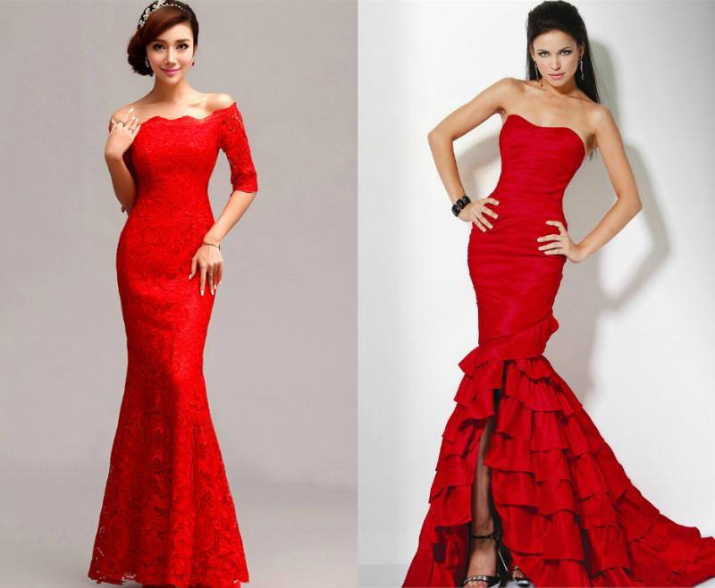 сміливі дівчата можуть придбати червону вечірню сукню-рибка. У такому  вбранні модниця не залишиться непоміченою 03d01a0dee5d7
