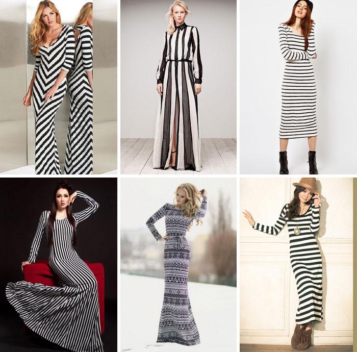 Довге трикотажне плаття в смужку 0d40aa3c5c197