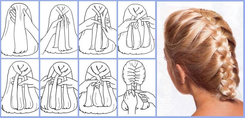 Как научиться плести из волос колосок