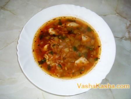Рецепт приготування гречаного супу з куркою