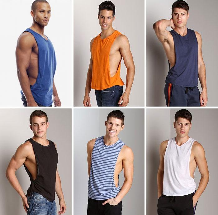 Модні чоловічі футболки і майки з глибоким вирізом з боків c4b6d5620a9d2