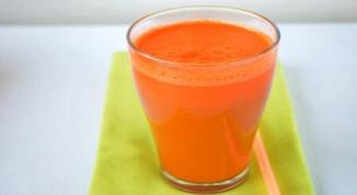 Маска для лица из моркови.