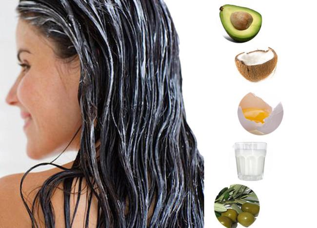 Маски з олій для волосся