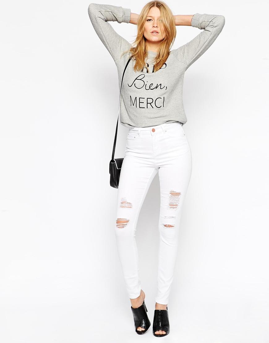Модні жіночі джинси. З чим носити білі джинси 1d9a132d2d3c5