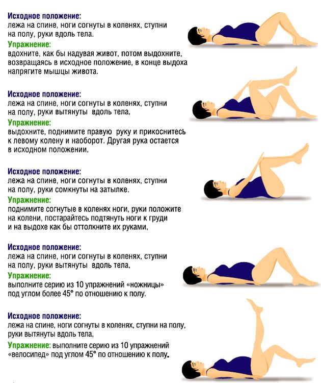 Гимнастика для беременных 2 триместр в домашних условиях 44