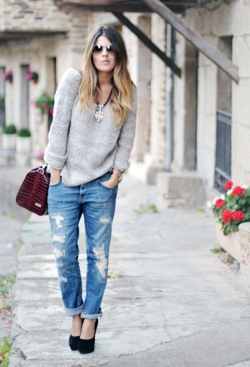 З чим носити джинси бойфренди