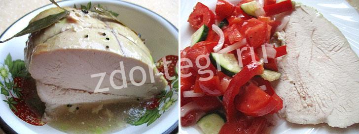 Буженина отдельно и с овощами