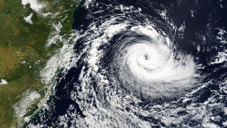 Плохая погода, снимок со спутника