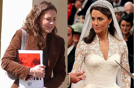 Кейт Миддлтон до и после похудания