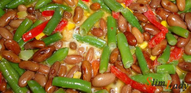 Фасоль с овощами