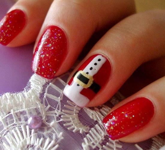 Форма и дизайн ногтей на новый год 2017