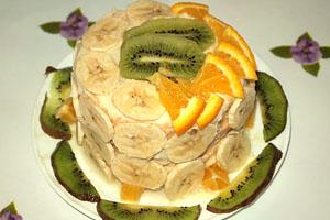 Фруктовый мини-тортик
