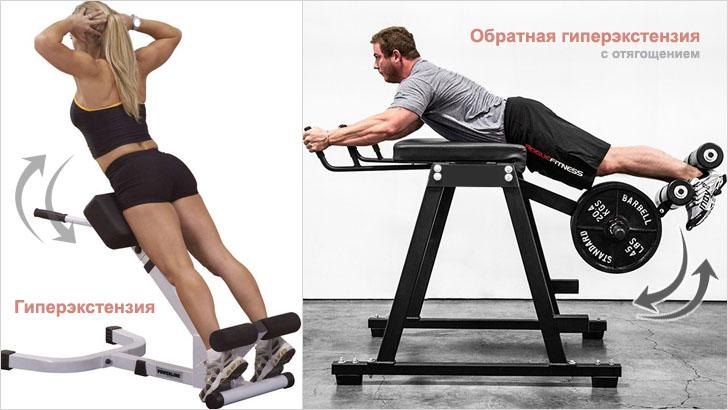 Упражнения для спины на тренажерах