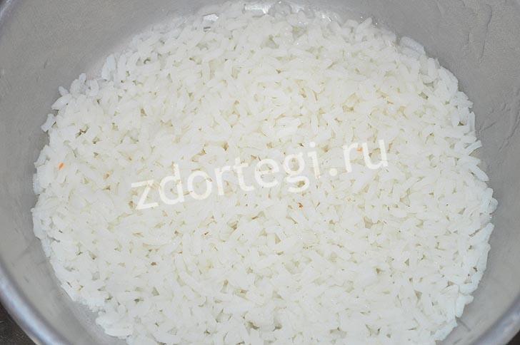 Промывка обваренного риса