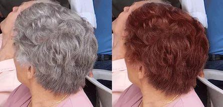 Оттеночный шампунь для седых волос