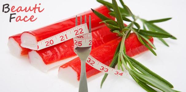 Принципы диеты на крабовых палочках