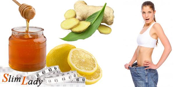 Мёд, лимон и имбирь для похудения