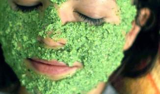 маска из петрушки для лица