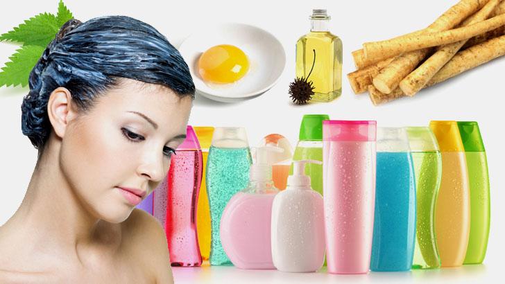 Различные средства для ухода за волосами