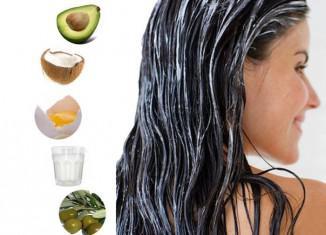 маски для волос с маслом авокадо, с репейным, касторовым, маслом кокоса, для роста волос, кончиков, на ночь