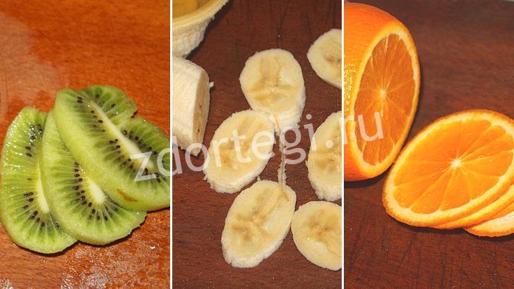 Подготовка фруктов для прослойки