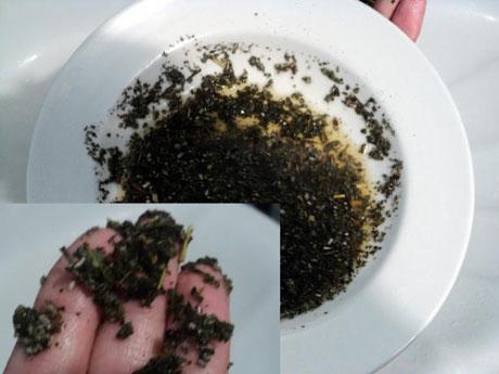 травяной скраб