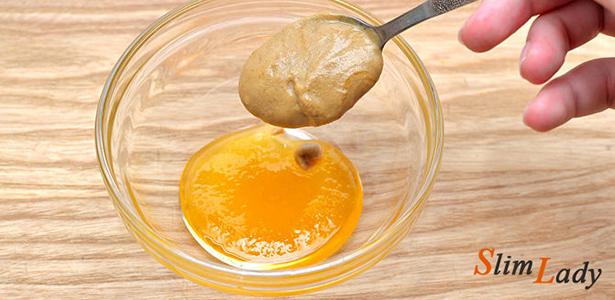 Соус-паста из мёда и горчицы