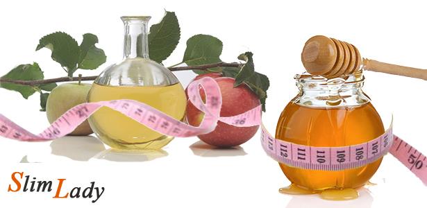 Использование мёда и уксуса для похудения