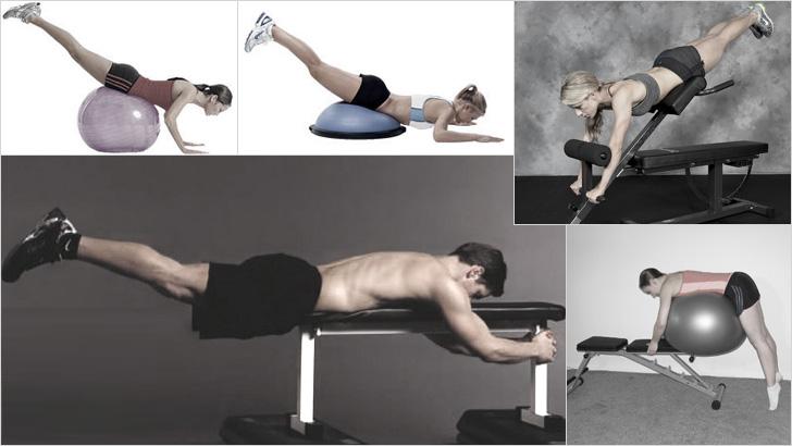 Различные варианты упражнений для спины