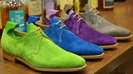 цвет замшевой обуви