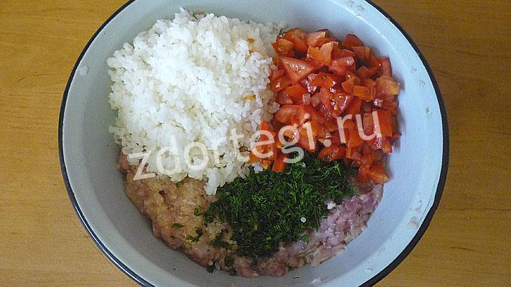 Ингредиенты начинки для фаршировки перцев