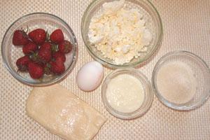 Продукты для приготовления пирога-косички