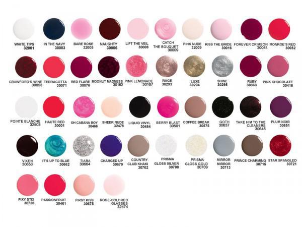 Цветовая палитра гель лаков Орли