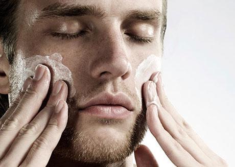 кожи лица мужчины