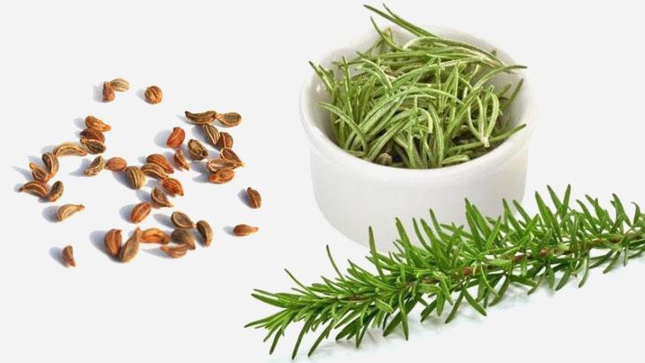 Средство для волос на основе розмарина и семян петрушки