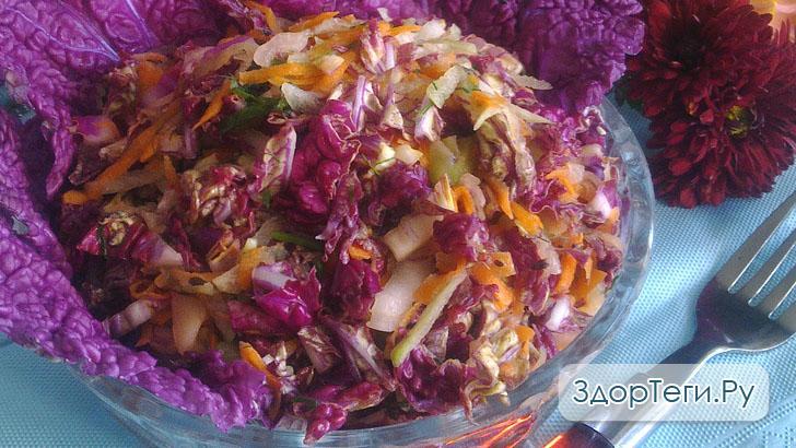 Готовый салатик из пекинской капусты