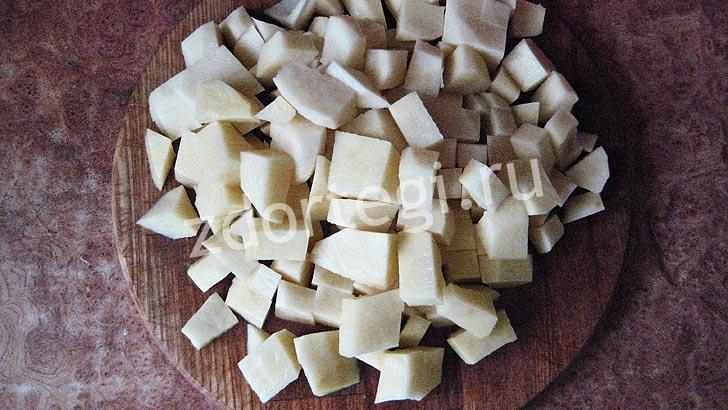 Кубики картофеля